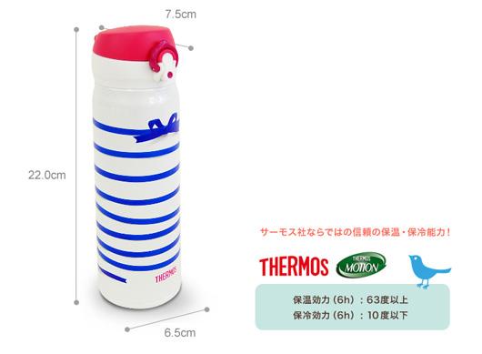 THERMOS(サーモス)× junko Suzuki 限定モデル「THERMOS PREMIUM COLLECTION」ケイタイマグ(ステンレスボトル)500ml