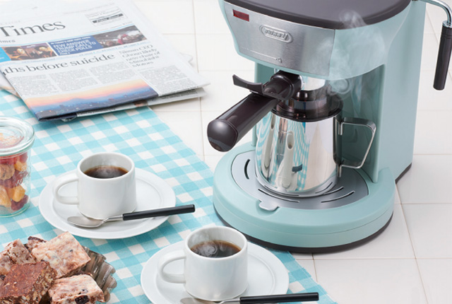 ラドンナ『Toffy』シリーズのコーヒーメーカーや、新発売のエスプレッソマシーン。