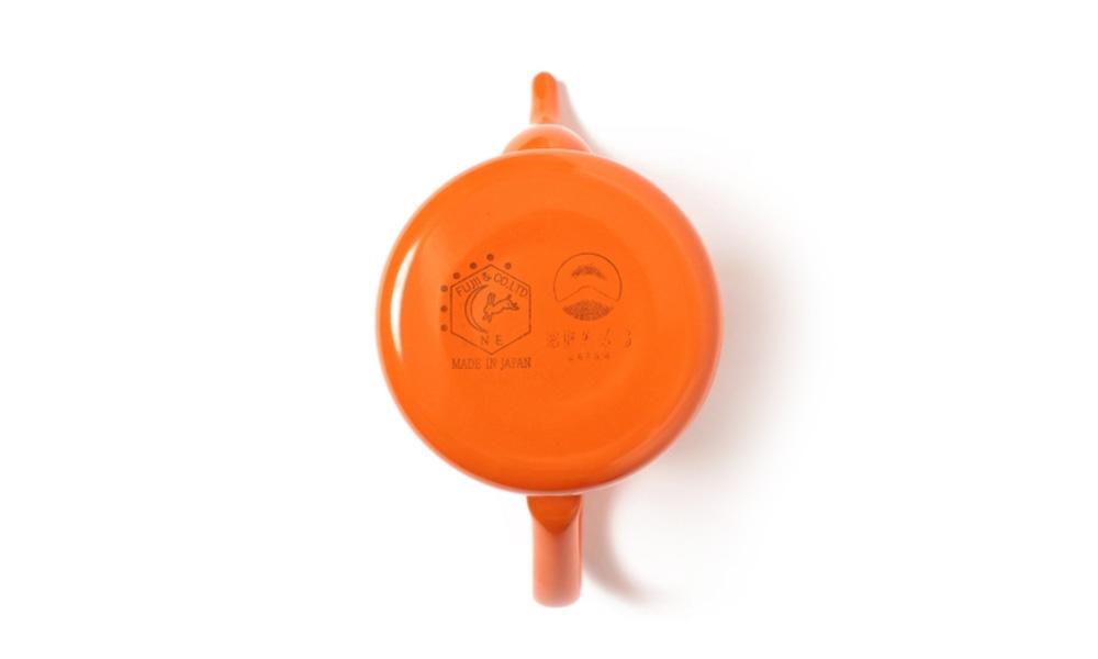 BEAMS JAPAN別注 琺瑯 月兎印スリムポット 橙