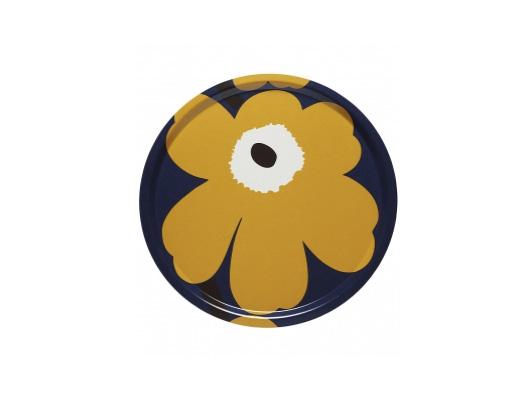 arimekko(マリメッコ)のUNIKKO 50TH ANNIVERSARY ディープパープルとイエロー トレイ