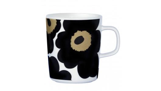 marimekko ウニッコ ブラック マグカップ