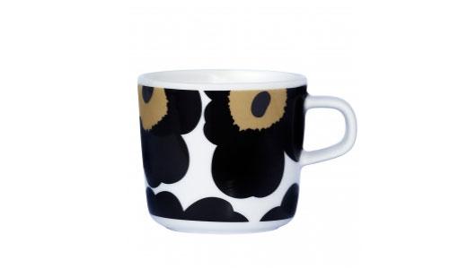 マリメッコ ウニッコ ブラック コーヒーカップ