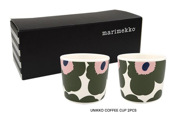 マリメッコから、日本限定 ウニッコのコーヒーカップ  『グリーン × ピンク』が発売!