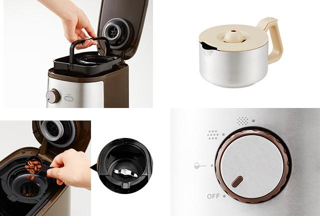 Vitantonio(ビタントニオ) ミル付きの全自動コーヒーメーカー 付属品