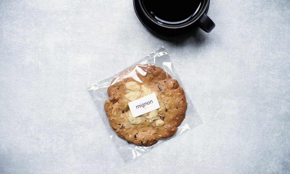 お菓子工房ミニョンのナッツクランブルクッキー
