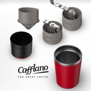 持ち運べるミル付きコーヒーメーカー、  Cafflano Klassic(カフラーノ クラシック)