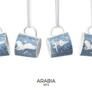 【2018冬季限定】ARABIA/アラビア ムーミンの限定シリーズ『ライトスノーフォール』は、一面雪。