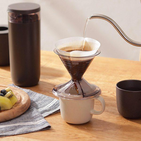工夫が詰まったMARNA(マーナ)のコーヒー器具、いいかも。  ドリッパー、キャニスターと消臭ポット。