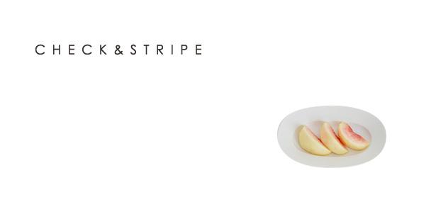 イイホシユミコ × CHECK&STRIPE 2017年 オーバルプレート